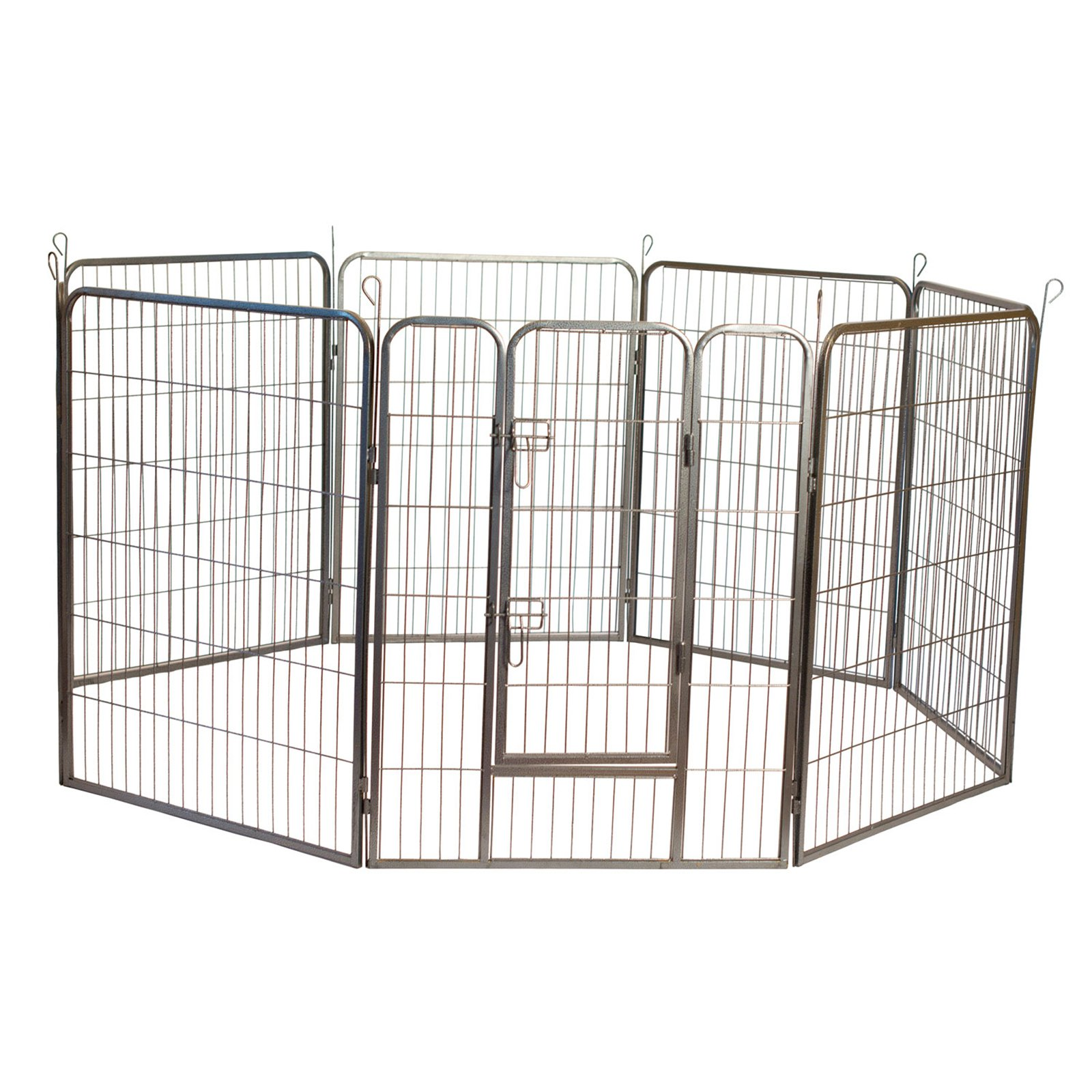 """Iconic Pet Heavy Duty Metal Tube Pen Pet Dog Exercise And Training Playpen, 24"""" Height"""