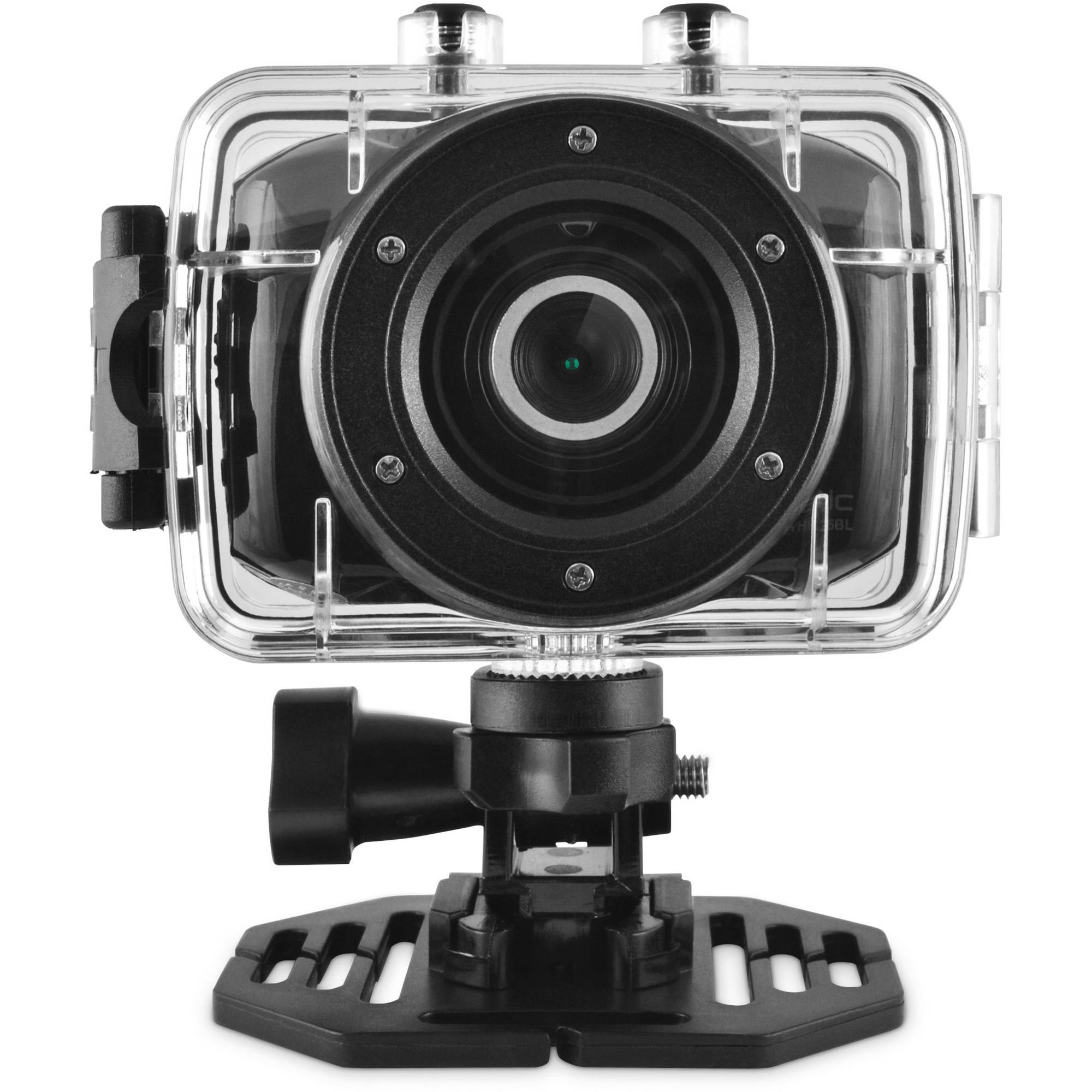 Ematic ActionCam HD Waterproof Camera with Post and Helmet Mount