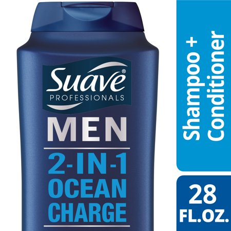 Suave Men Ocean Charge 2 In 1 Shampoo And Conditioner  28 Oz