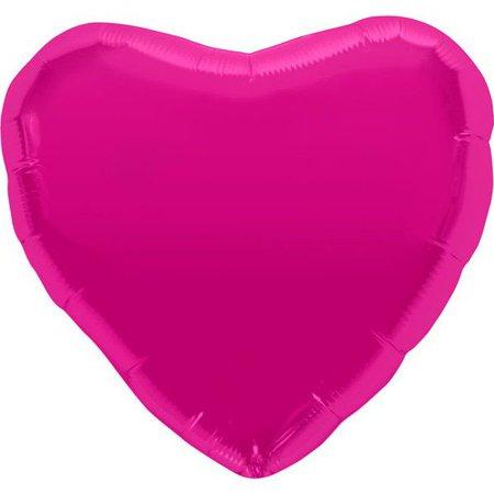 """METALLIC HEART 18"""" BALLOON (EACH)"""