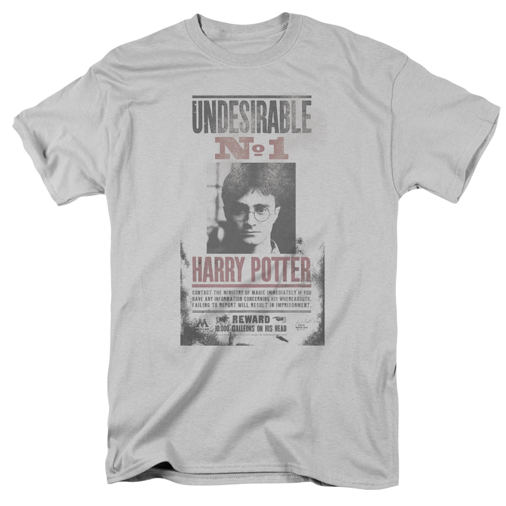 Harry Potter Undesirable No1 Distressed Mens Short Sleeve Shirt