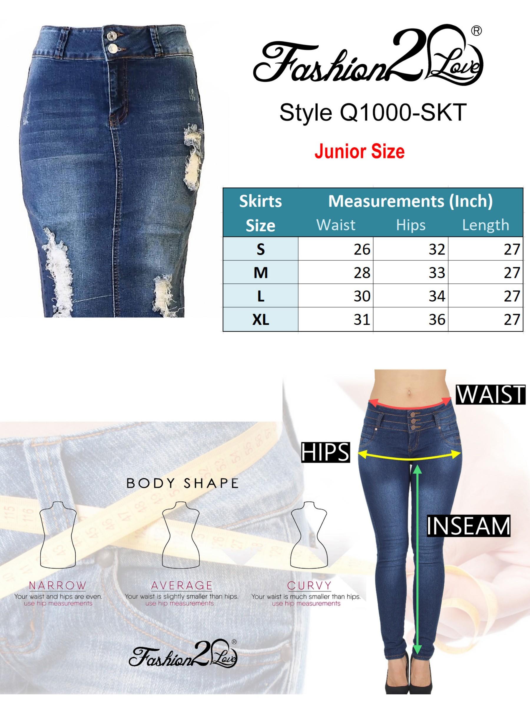 a327b8c4f Fashion2love - Womens Junior Plus Size Juniors below Knee Length Midi  Pencil Ripped Denim Skirt - Walmart.com