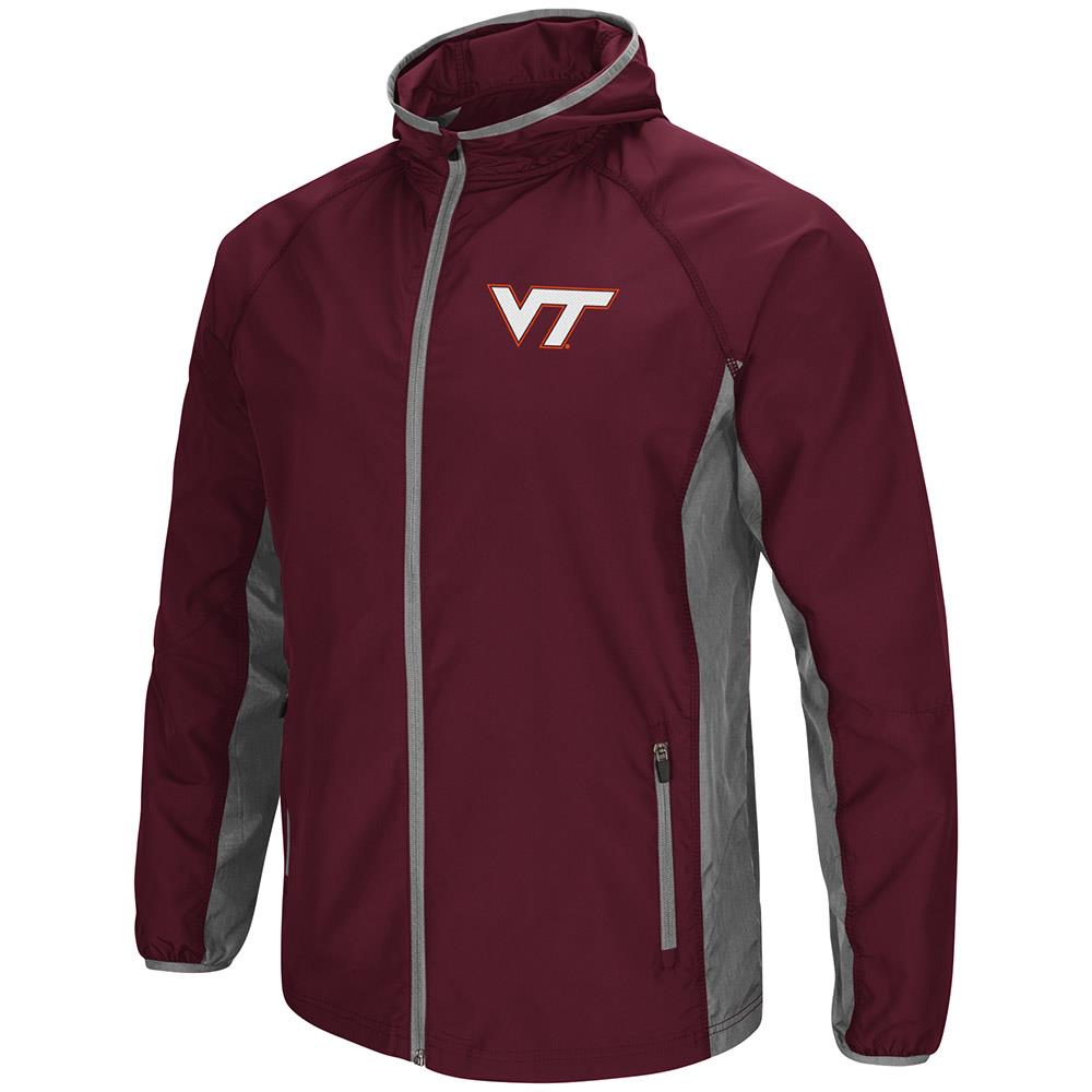 Mens Virginia Tech Hokies Full Zip Hooded Jacket by Colosseum
