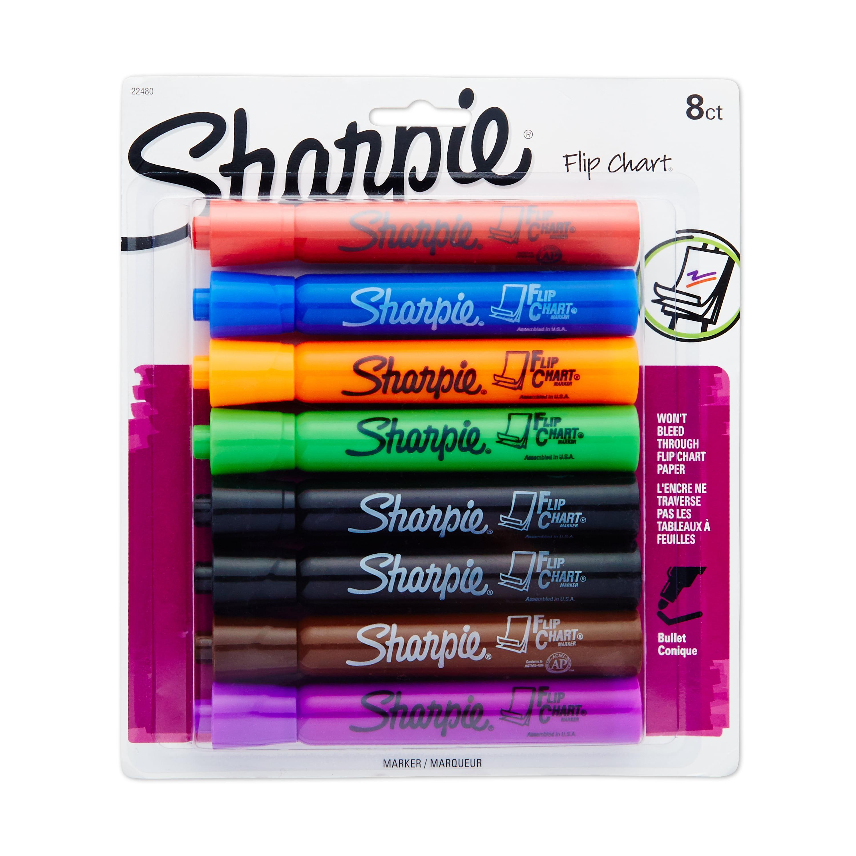 Assorted Color Pack ... Sharpie Non-Washable Ink Flip Chart Marker Bullet Tip