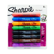 Sharpie Flip Chart Markers, Bullet Tip, Assorted Colors, 8 Pack