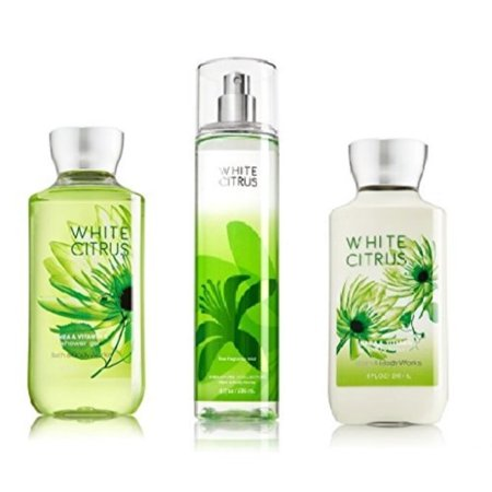 Curve Gel Body Lotion - Bath and Body Works - Signature Collection - WHITE CITRUS - Shower Gel - Fine Fragrance Mist & Body Lotion Trio