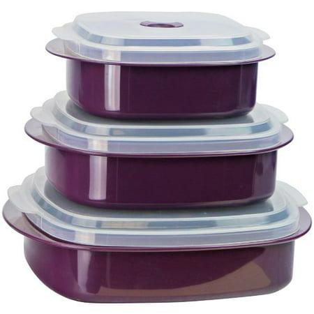 Reston Lloyd Calypso Basics 3 Container Food Storage Set (Set of 2)