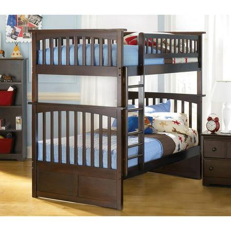 - Atlantic Furniture Columbia Twin-over-twin Bunk Bed in Walnut