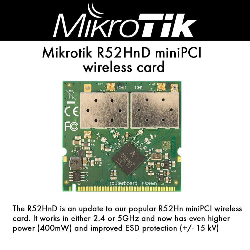 Mikrotik R52HnD miniPCI wireless card 2.4Ghz 5GHz 400mW 8...