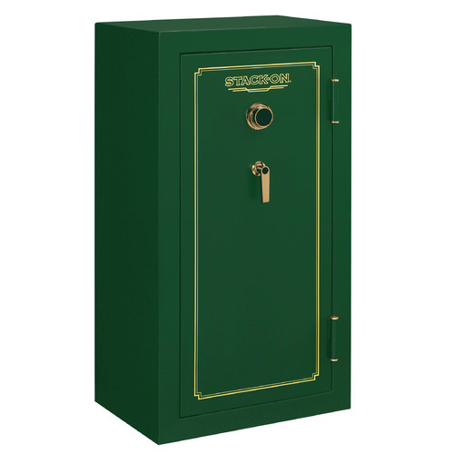 Stack-On 24 Gun Fire Resistant Security Safe with Combination Lock, Matte Hunter Green by Stack-On