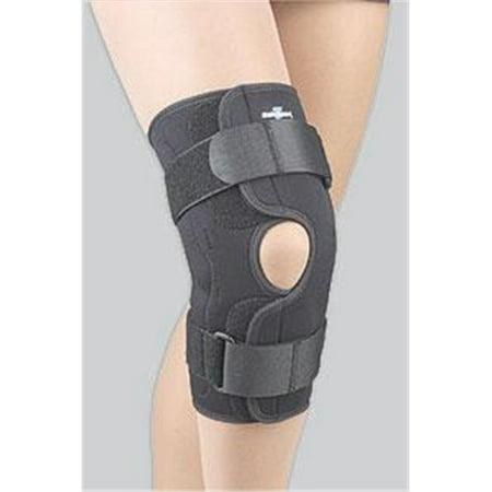Fla 37 3503Lblk Safe T Sport Wrap Around Hinged Knee Stabilizing Brace  44  Black  44  Xxxl