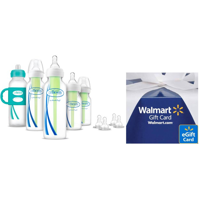 Deals on Dr. Browns Baby First Year Baby Bottles Set + $5 Walmart GC