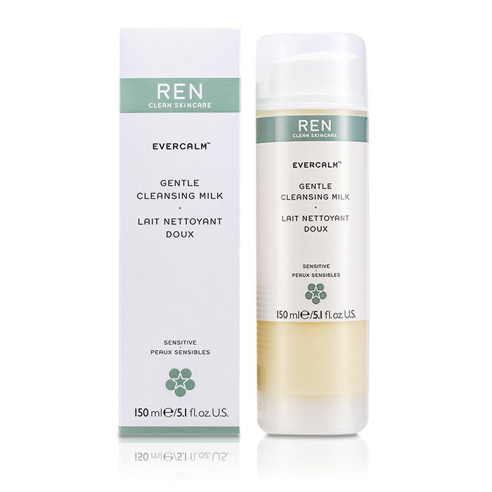 Ren - Evercalm Gentle Cleansing Milk (For Sensitive Skin) - 150ml/5.1oz Blistex - DCT Daily Conditioning Treatment For Lips SPF 20 0.25 oz Each