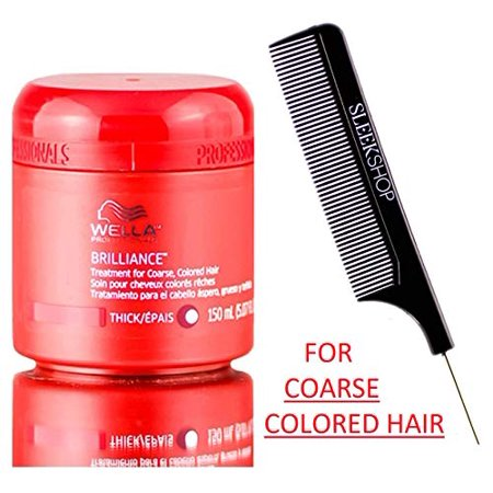 Wella Professionals BRILLIANCE TREATMENT (STYLIST KIT) Volumizing, Thickening Conditioning Mask Conditioner Masque for Color - COARSE - 16.9 oz / 500 ml - XXL PRO SIZE