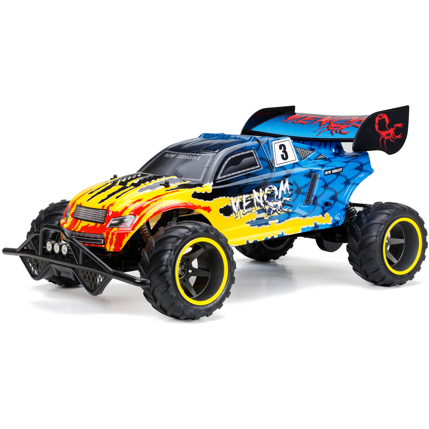 New Bright 1:6 Full-Function 9.6V Venom R/C Car, Blue