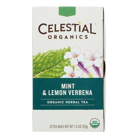 Celestial Seasonings Organic Mint & Lemon Verbena Herbal ...