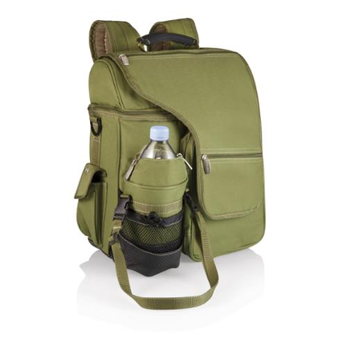 Picnic Time Turismo Olive Insulated Backpack w/ Separate Compartments