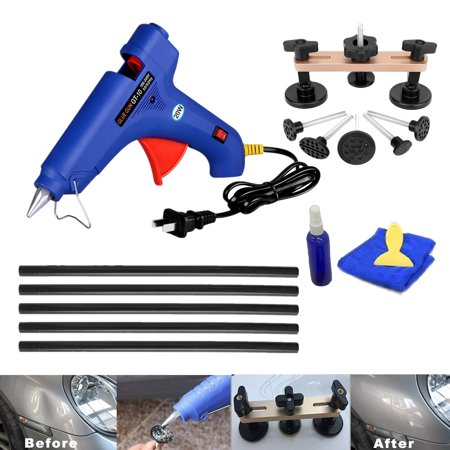 Paintless Dent Removal Tools Pops a Dent Puller Car Dent Remover Hot Melt Glue Gun w/ Glue Sticks for Mobile Dent Repair