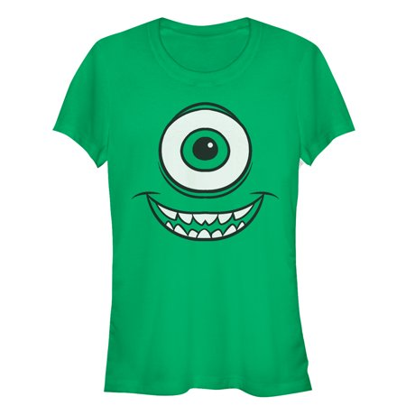 Monsters Inc Juniors' Mike Wazowski Eye T-Shirt - Mike Wazowski Shirt