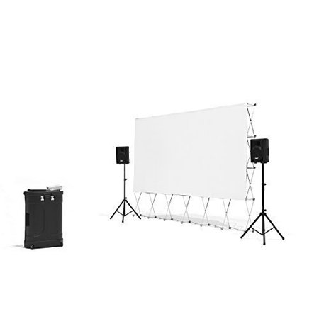 Backyard Theater Systems- Complete Outdoor Movie Theater- Projector, Speakers, 16' Screen, Media case (Outdoor Home Theater)