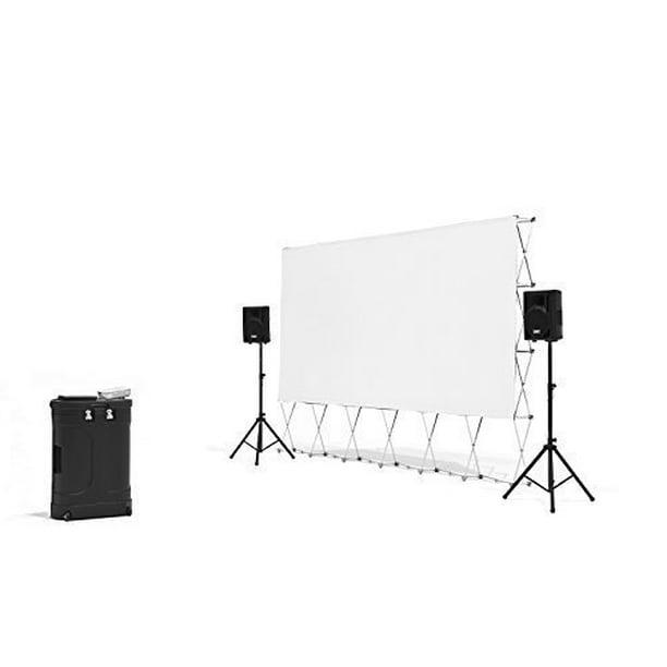 Backyard Theater Systems Complete Outdoor Movie Theater Projector Speakers 16 Screen Media Case Walmart Com Walmart Com