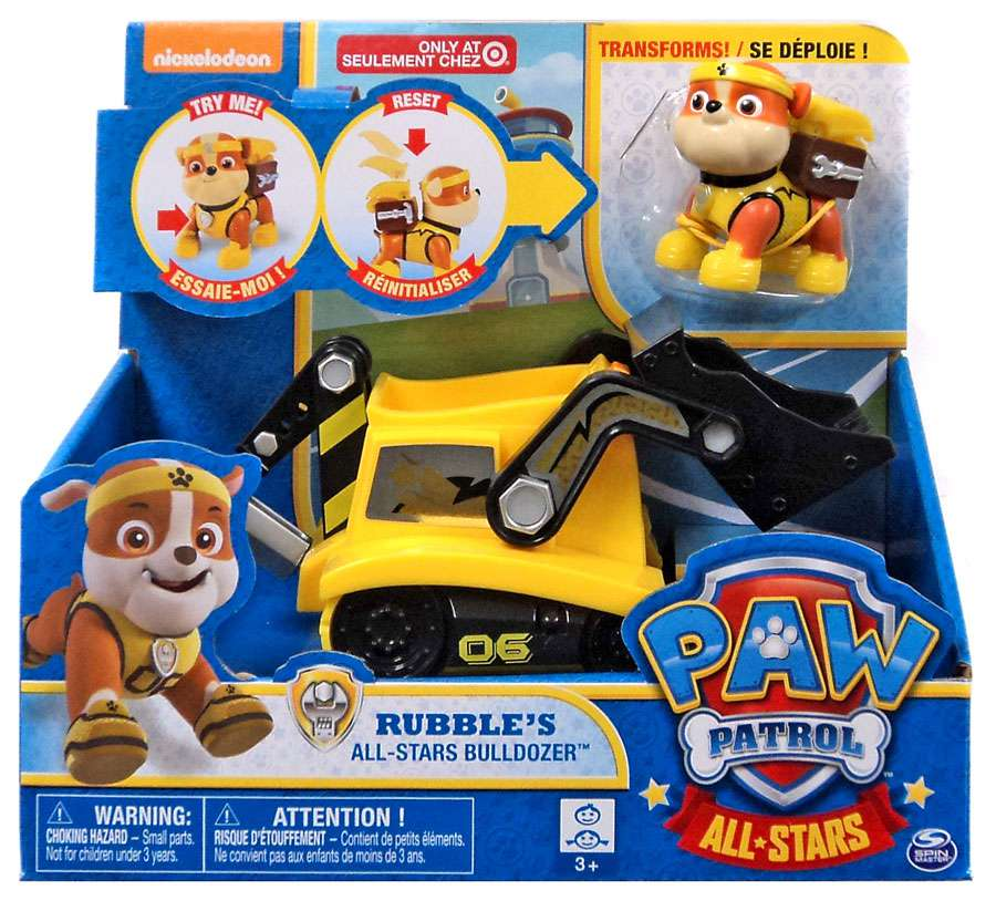 Paw Patrol All Stars Rubble's All-Stars Bulldozer Vehicle
