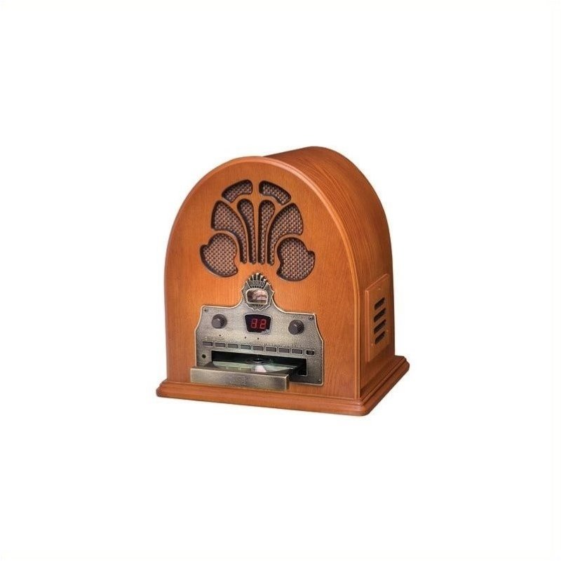 Pemberly Row Two-In-One Vintage Cathedral Radio and CD Player by Pemberly Row