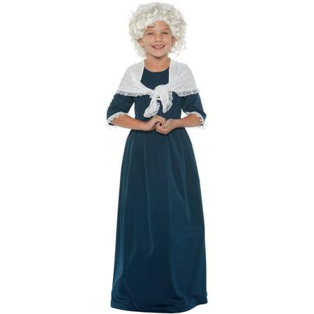 Martha Washington Girls Child Halloween Costume