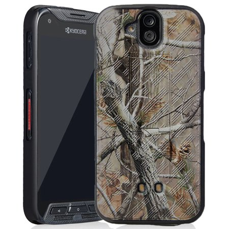 DuraForce Pro Camo Case, Nakedcellphone's [Camouflage] Tree Leaf Real Woods  Slim Hard Shell Cover [with Kickstand] for Kyocera Duraforce Pro (E6810,
