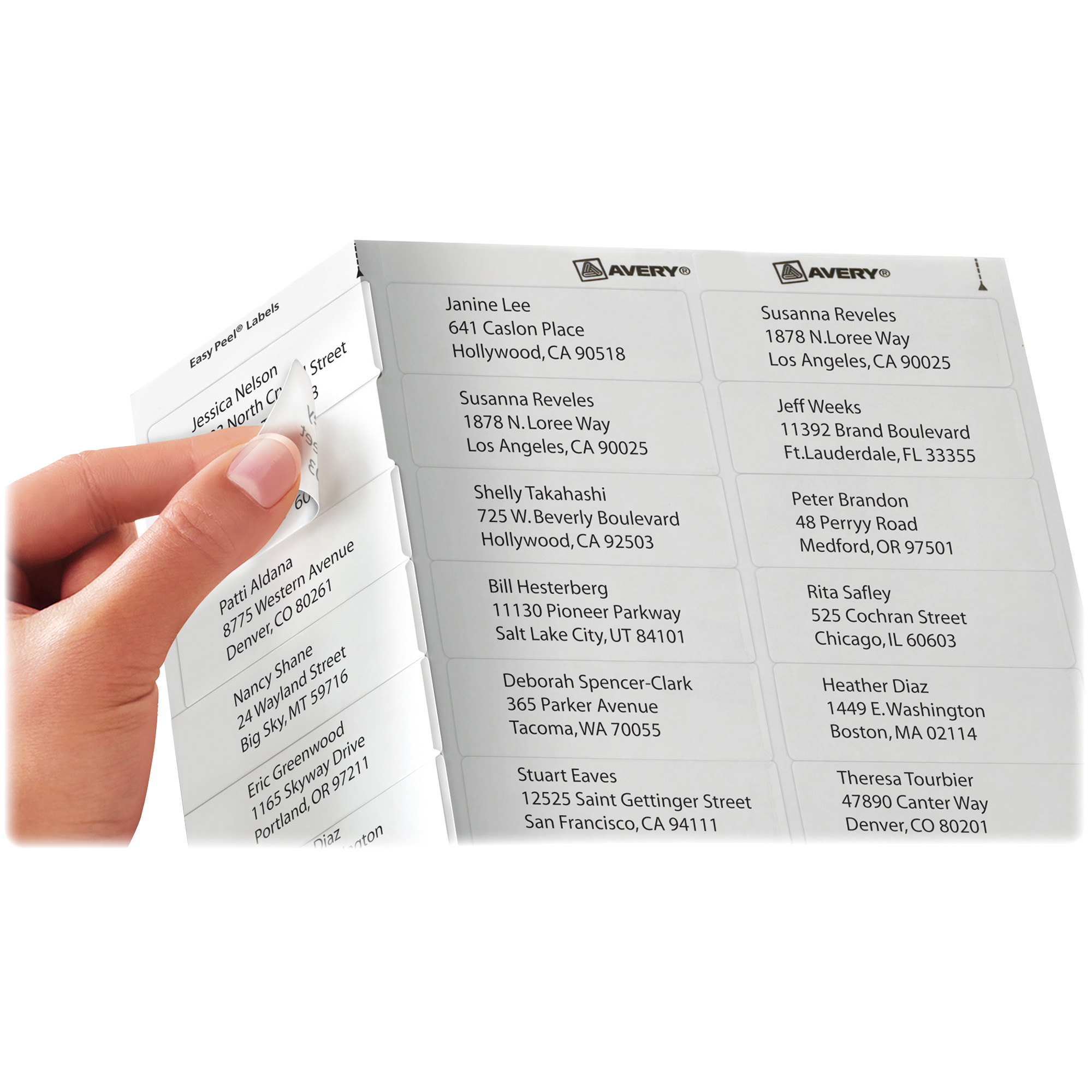 Avery Matte Clear Easy Peel Address Labels, 1 x 2 5/8, 750/Pack ...