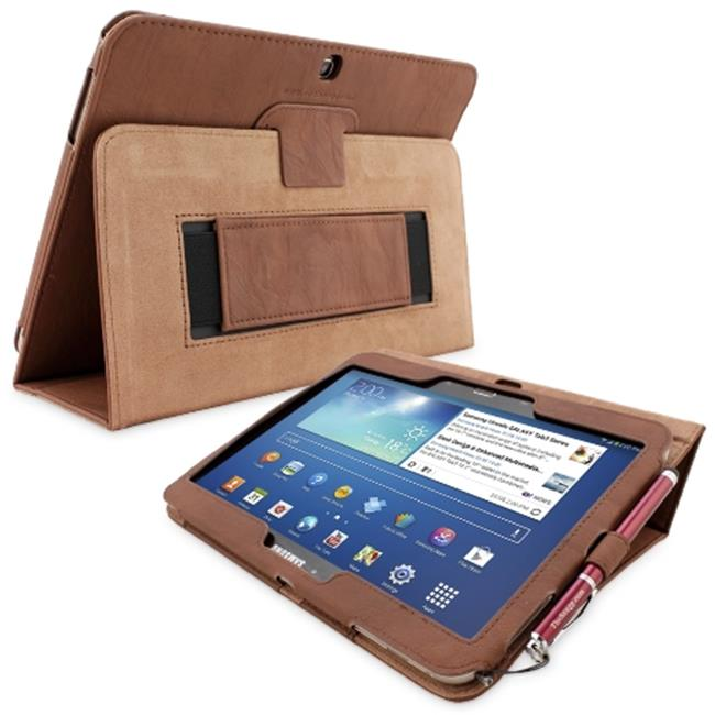 Snugg B00EQ611IY Galaxy Tab 3 10. 1 Case Cover and Flip Stand, Distressed Brown Leather