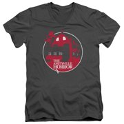 Amityville Horror Red House Mens V-Neck Shirt
