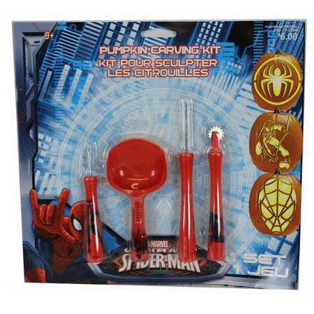 Spider-man (Marvel Comics) Ultimate Halloween Pumpkin Carving Set - Pumpkin Spiders