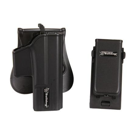 Bulldog Cases Thumb Release Holster Includes Universal Magazine Holder W/ Belt Clip Fits Glock 19,23 & 32 Gen