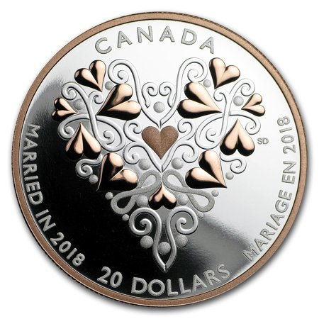 2018 Canada 1 oz Silver $20 Best Wishes on Your Wedding