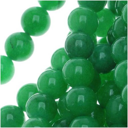 Green Candy Jade 6mm Round Beads / 15 Inch