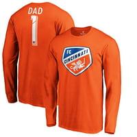 FC Cincinnati Fanatics Branded #1 Dad Long Sleeve T-Shirt - Orange