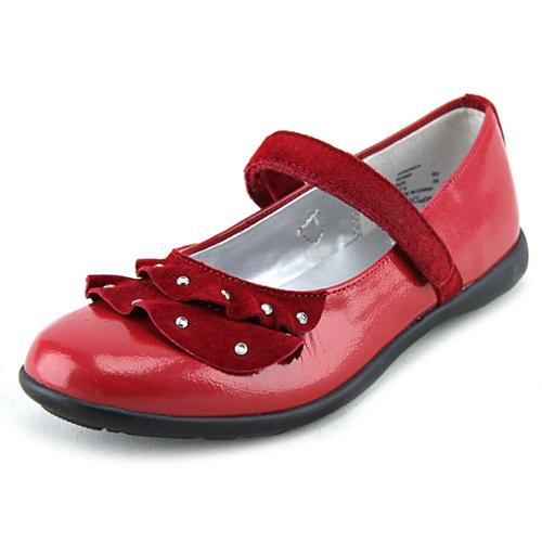 Balleto by Jumping Jacks Veronica Youth US 3 N Red Flats EU 35