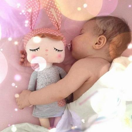 Pink Rabbit Toy (Lovely Metoo Plush Doll Baby Kids Angela Stuffed Toys Cartoon Rabbit Sleeping Dolls for Girls)