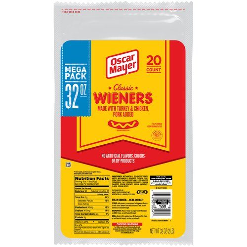 Oscar Mayer Classic Wieners, 20 count
