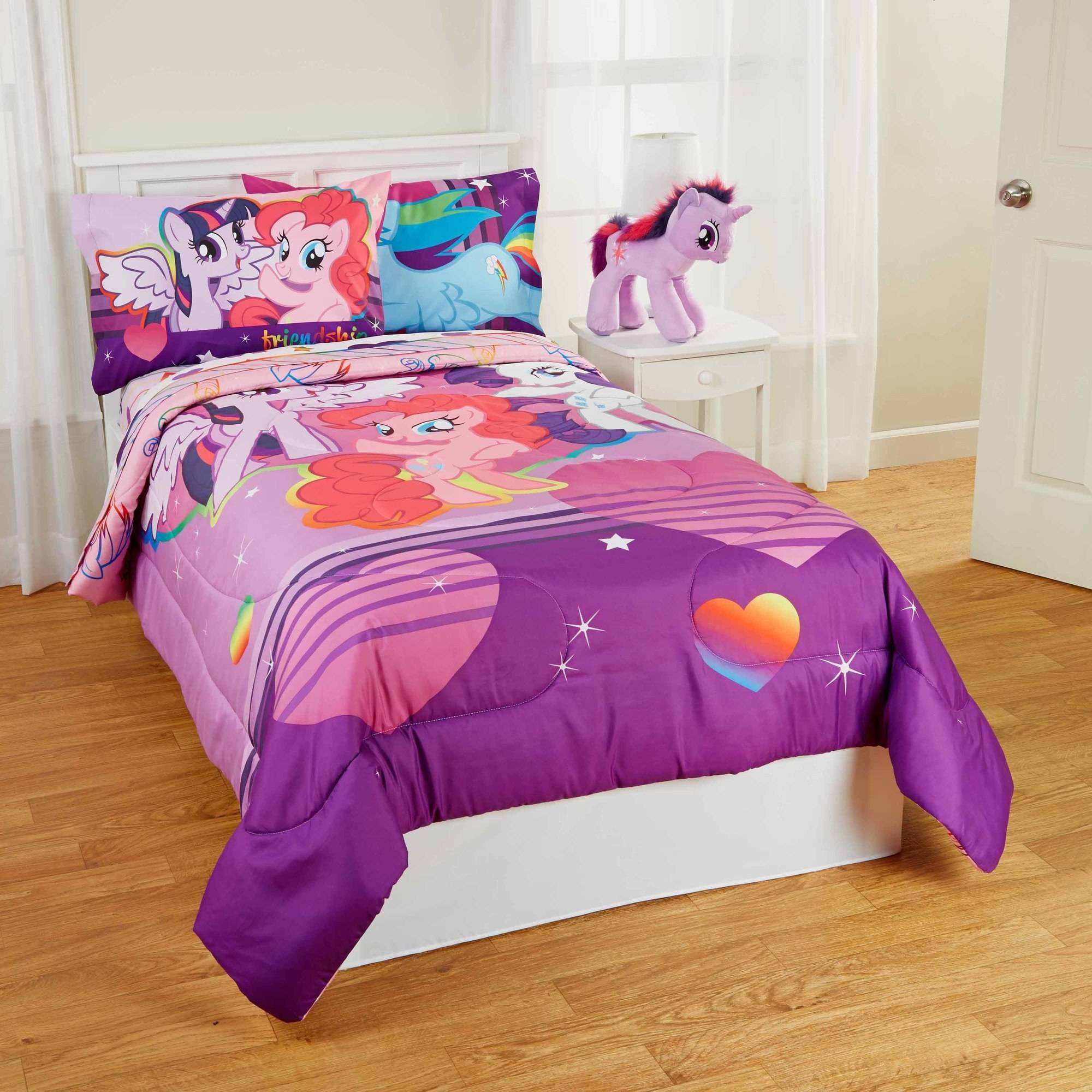 my little pony pony field bed in bag bedding set twin full. Black Bedroom Furniture Sets. Home Design Ideas