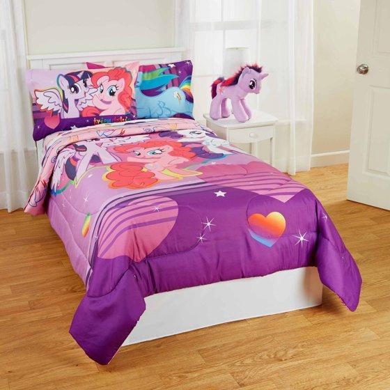 my little pony pony field kids bedding bed in bag bedding. Black Bedroom Furniture Sets. Home Design Ideas