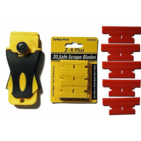 Heavy Duty Plastic Razor Blade Set with Scraper