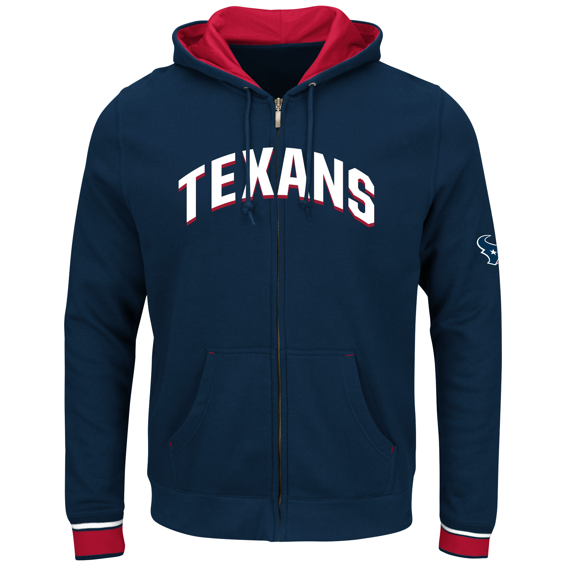 Houston Texans Majestic Anchor Point Full-Zip Hoodie - Navy