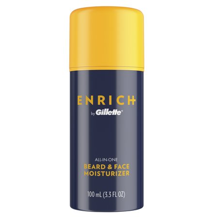 Gillette Enrich Beard & Face Moisturizer for Men, 3.3 fl oz