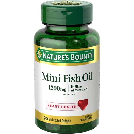 Nature's Bounty Mini Fish Oil Omega-3 Softgels, 1290 Mg, 90 (Omega 3 Mint)