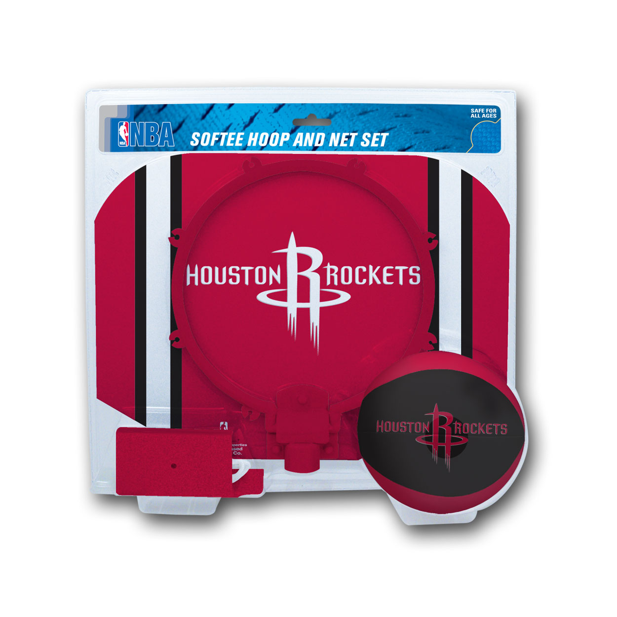 Rawlings NBA Slam Dunk Softee Hoop Set Houston Rockets