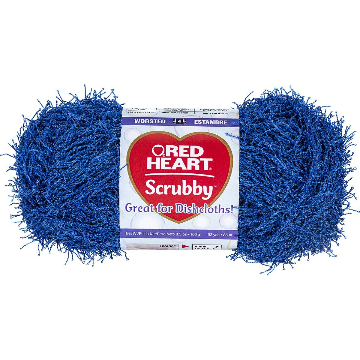 Red Heart Scrubby Yarn-Royal, Red Heart Scrubby Yarn-Royal By Coats: Yarn