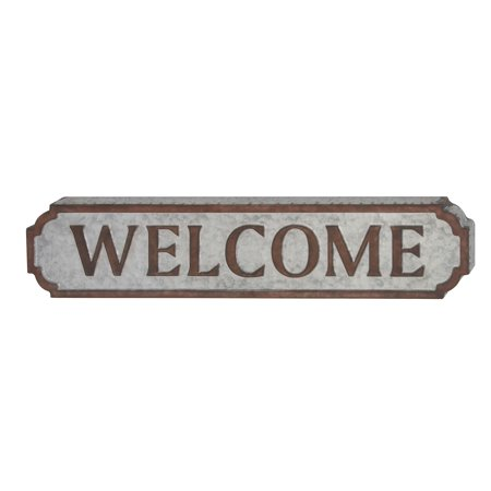 Gwg Outlet Metal Welcome Sign 37 W  7 H 59466