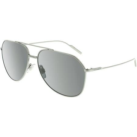 Dolce And Gabbana Women's DG2166-04/87-61 Silver Aviator (Dolce & Gabana Glasses)